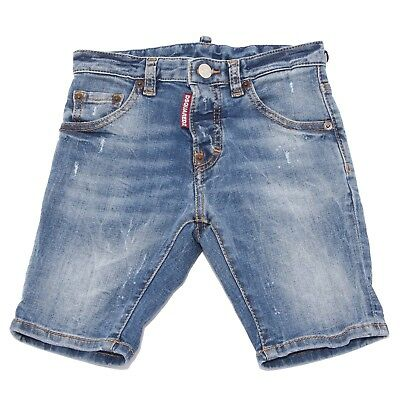8022T bermuda bimbo DSQUARED2 blu denim pantalone corto short kid