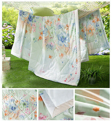 Thin Green Flower Fashion Lithe Width 200*Length 230CM Family Bedding Quilt &