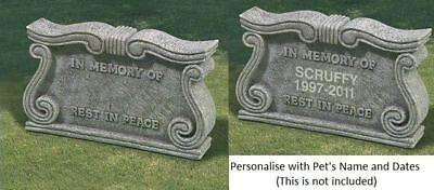 In Loving Memory our Pet Memorial Plaques Grey Stone Headstone Not Personalised