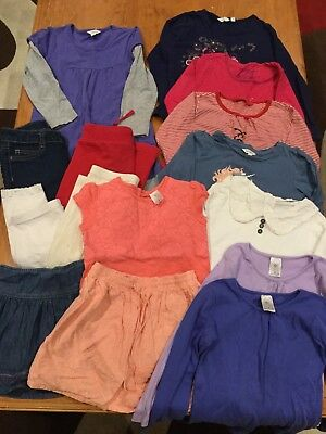 Girls Size 6 Bulk Lot 15 Items Tops Pants Skirts Dress Various Brands EUC