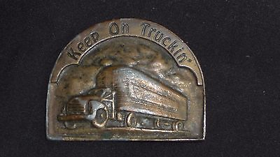 * Vintage *  American Truckers Belt Buckle
