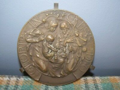Plaque by Walter Gilbert and the Bromsgrove Guild Plaque 'Gloria in Excelsis Deo