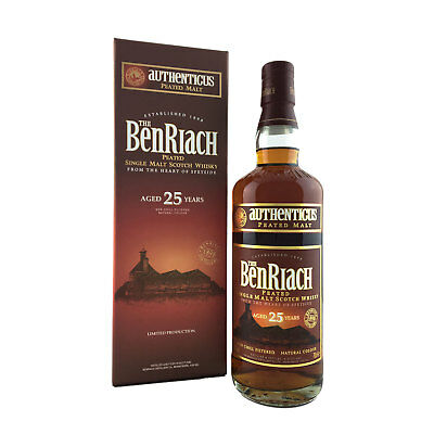 Benriach 25 Year Old Authenticus Single Malt Scotch Whisky 70cl 46%