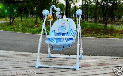 Fashion Ocean Blue Security Multi-Purpose Automatic Swing Chair/Rocking Chair