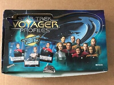 SKYBOX STAR TREK Voyager Profiles Empty Display Box