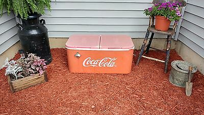 Vintage Rare Coca Cola Coke Vendor Cooler Chest - Opener - COOL!