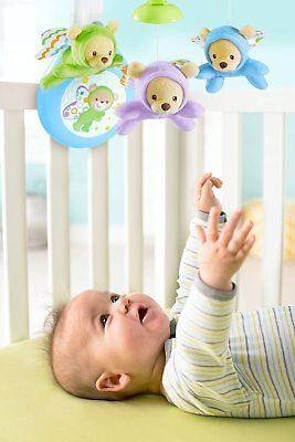 Fisher Price Baby Crib Musical Mobile Infant Cot New Comfort Entertainment 3in1