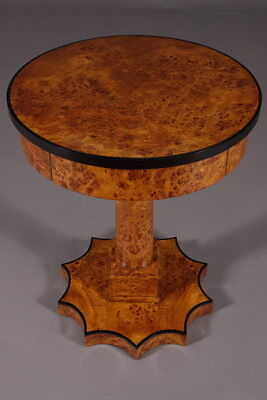 Classic Side Table Table Maple root Veneer in the Biedermeier style