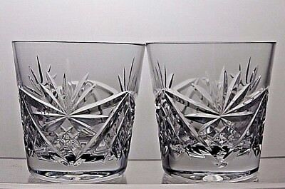 Beautiful Design Cut Glass Crystal Tumblers Set Of 2