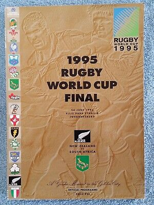 1995 - RUGBY WORLD CUP FINAL PROGRAMME - NEW ZEALAND v SOUTH AFRICA