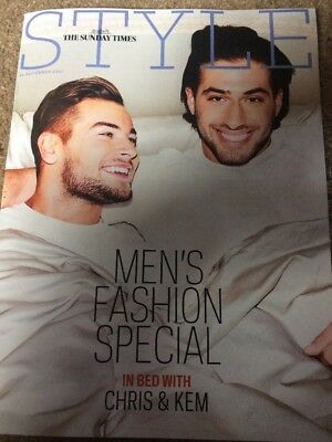 LOVE ISLAND KEM CETINAY CHRIS JACK O'CONNELL SUNDAY TIMES Style September 2017