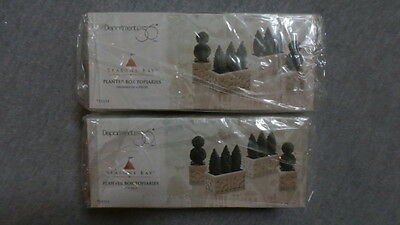 Dept 56 Seasons Bay Planter Box Topiaries  ~ Set of 2 Boxes