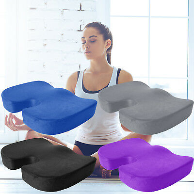 Coccyx Orthopedic Memory Foam Seat Chair Wheelchair Pad Yoga Meditation Cushion