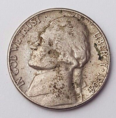 Dated : 1964 - Five Cents / 5c Coin - United States of America - USA