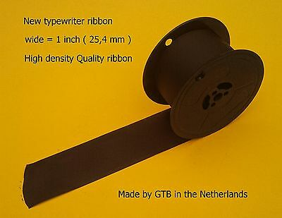 New inked Ribbon for Typewriters wide = 25mm, 1 inch  black