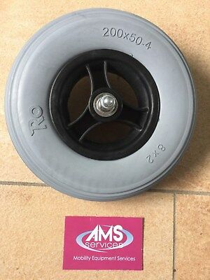 Ottobock A200 Electric Wheelchair  Front Wheel & Solid Tyre, 200x50-4