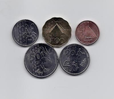 Vanuatu 2015 New Full  5 Coins High Grade Set Very Rare Nice And Collectible