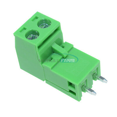 10PCS KF2EDGK KF-2P 2PIN Right Angle Plug-in Terminal Connector 5.08mm Pitch