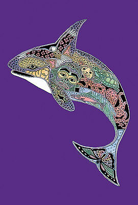 New Large Toland Flag Totem Animal Spirits Orca Whale 28 X 40  Made In Usa