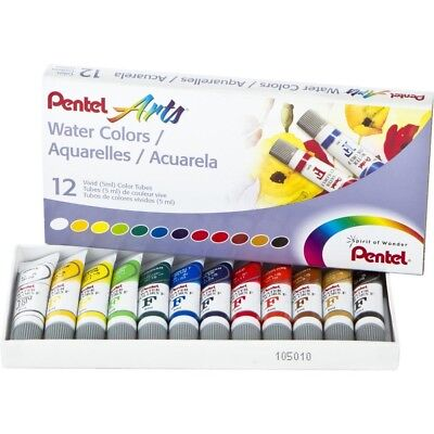 Pentel Watercolours 5ml, Assorted Colours, 12/pkg. Delivery is Free