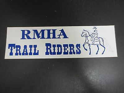 RMHA (Rocky Mountain Horse Association) Trail Riders Bumper Sticker