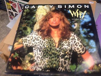 """CARLY SIMON - WHY (ORIGINAL PICTURE COVER) 12""""  (classic ibiza chill out)"""