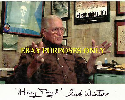 Major Dick Winters Band Of Brothers Easy Company Autographed 11x14 Collectible