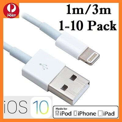 1-10Pcs USB Data Charging Cable for iPhone 5 5S 6 7 7Plus 8 X iPad Charger white