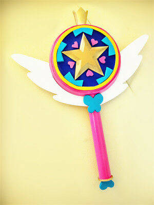 Star vs. the Forces of Evil Princess Girl Toy Magic Wand Stick Cosplay Hand Prop