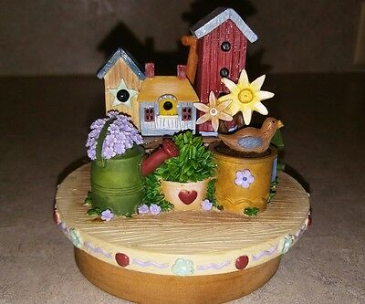 Yankee Candle Topper Retired FLASH SALE Garden Bird House Spring Summer