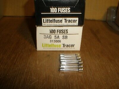 (Qty.6) NEW Littelfuse Glass Tube Slow Blow Fuses 313 3AG SB 5 Amp 250V 5A USA