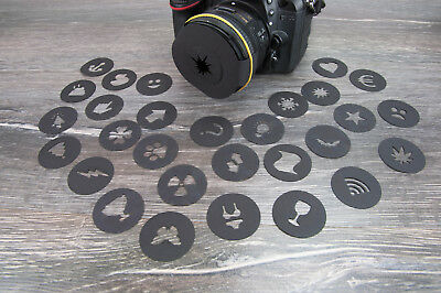 Unique Bokeh Cutouts lens kit for Special Effects for DSLR cameras and Mirrorles