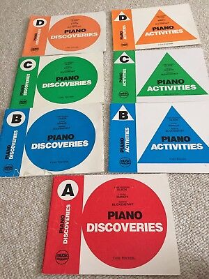 Music Pathways - Piano Activities Discoveries A THRU D - 7 (SEVEN) BOOKS TOTAL!