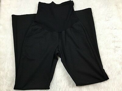 MOTHERHOOD MATERNITY Full Belly Panel black Stretch Career pants Size Small