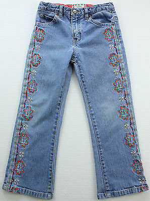 BABY GAP Girls Stretch Jeans Toddler Size 5 years Embroidered Southwestern