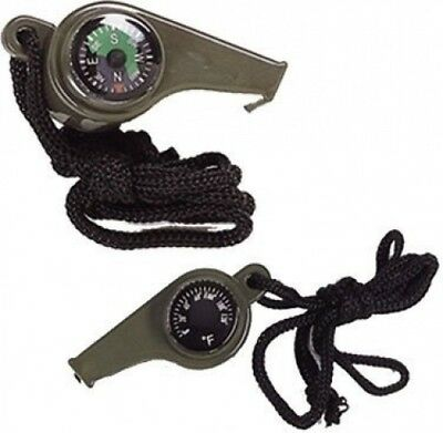 SE 3-in-1 Compass, Whistle and Thermometer. Brand New
