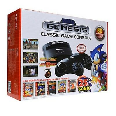 Sega Genesis AtGames Classic Game Console 80 Built in Games 2016 Model
