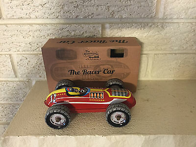 Tin Toy Red Race Car Number 12 Tin Litho Toy Clockwork Mechanism  DL