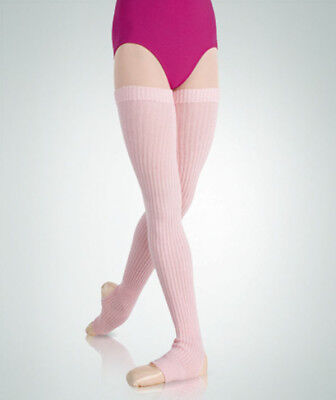 "Body Wrappers 94 Adult 36"" Theatrical Pink Stirrup Leg/Thigh Warmers (One Size)"
