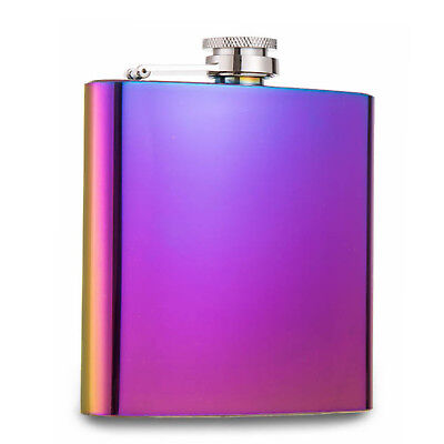 6oz Hip Flask Stainless Steel Florescent Purple Hip Flask Excellent Quality