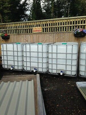 IBC 1000 litre water/storage containers