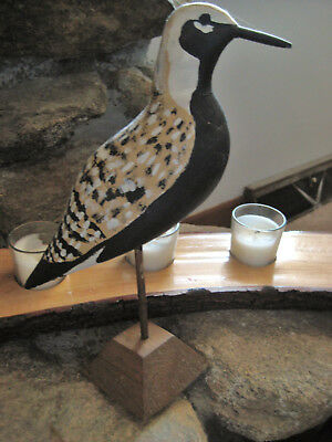 Vintage Black Bellied Plover Decoy-Canada-signed by artist Wyane Stairs