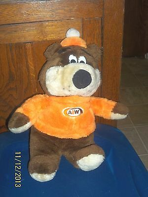 "Vintage A&w Rootbeer Teddy Bear Plush Mascot 15"" Tall"