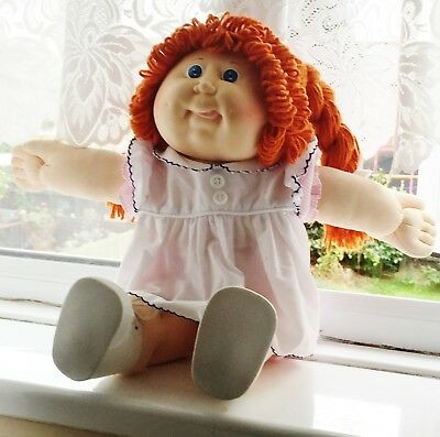 Rare Red fuzzy cabbage patch doll. 1978 to 1983