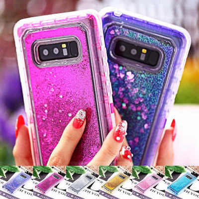 Luxury Quicksand Glitter Dynamic Liquid Clip Case For Samsung Note 8 S8 Plus
