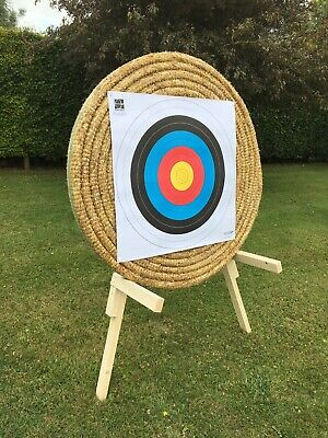 Egertec 128cm Straw Archery Target. Free Delivery, Free Faces And Free Pins.