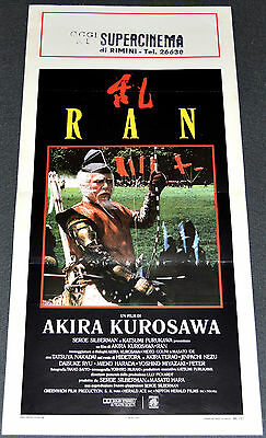 Akira Kurosawa's RAN 1986 ORIG. 13x28 ITALIAN MOVIE POSTER! WAR ACTION EPIC!