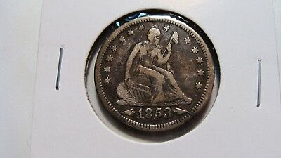 1853 Seated Liberty Quarter  VF