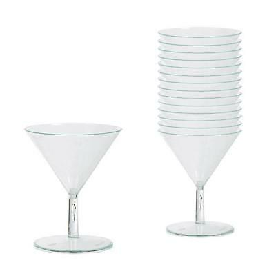 Amscan 59ml Barware Mini Cocktail Glasses Catering For 20 Party Guests