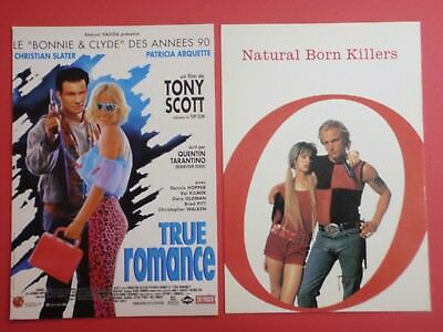 Postcard Lot of 2 : TRUE ROMANCE + NATURAL BORN KILLERS : Tarantino